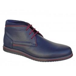 Ανδρικά Παπούτσια SOFTIES 6922 Μπλε Μποτάκια Κορδόνια
