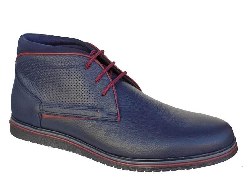 9716f57f29 SOFTIES 6922 Μπλε Ανδρικά Μποτάκια Κορδόνια - Ανδρικά Παπούτσια