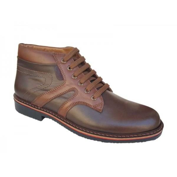 Ανδρικά Παπούτσια Cabrini K15 Καφέ Δερμάτινα Μποτάκια