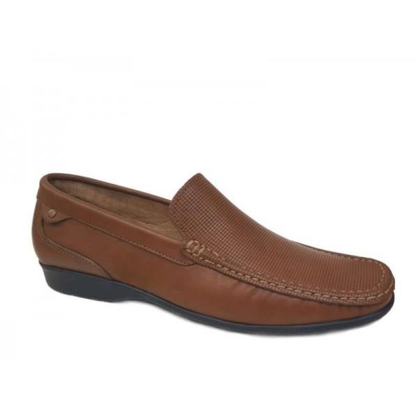 Ανδρικά Παπούτσια Cabrini 460 Ταμπά Casual Δερμάτινα Μοκασίνια