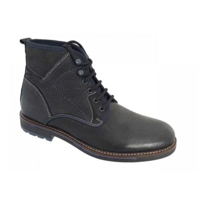 9bce1c694fb -32% Ανδρικά Παπούτσια Canguro 162302 Μαύρα Casual Δερμάτινα Μποτάκια