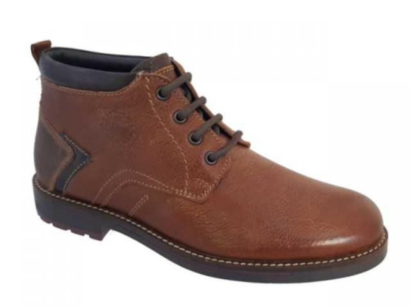 c246ad8dae4 -27% Ανδρικά Παπούτσια Canguro 162300 Ταμπά Casual Δερμάτινα Μποτάκια