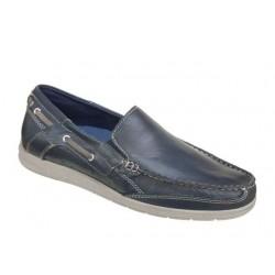 Ανδρικά Παπούτσια Canguro 39205 Μπλε Boat Δερμάτινα Μοκασίνια