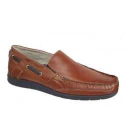 Ανδρικά Παπούτσια Canguro 39205 Κονιάκ Boat Δερμάτινα Μοκασίνια