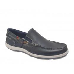 Ανδρικά Παπούτσια freemood E001206 blue Boat Δερμάτινα Μοκασίνια