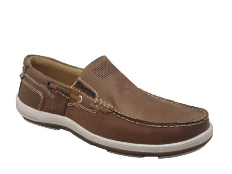 Ανδρικά Παπούτσια freemood E001206 Guoio Boat Δερμάτινα Μοκασίνια