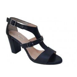 Δερμάτινα  παπούτσια SAV 7006 Μαύρα Γυναικεία Πέδιλα