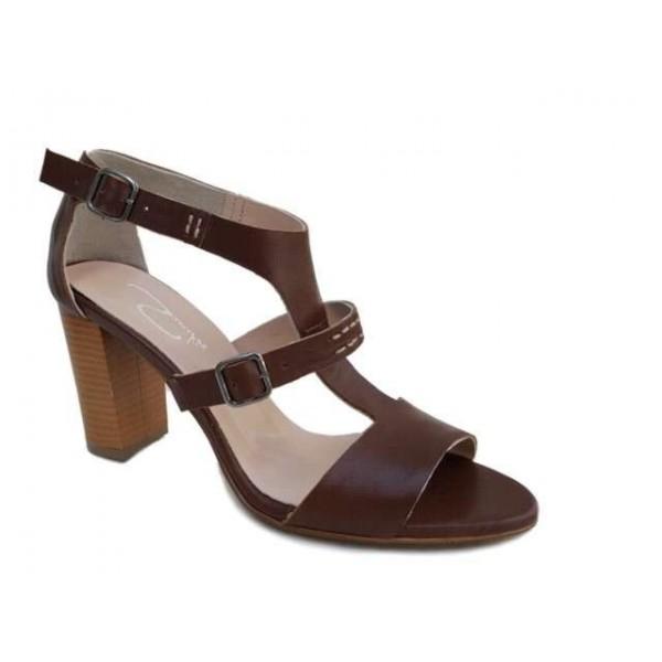 Δερμάτινα  παπούτσια SAV 7006 Καφέ Γυναικεία Πέδιλα