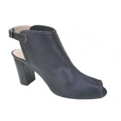 Δερμάτινα  παπούτσια SAV 7007 Μαύρα Γυναικεία Πέδιλα