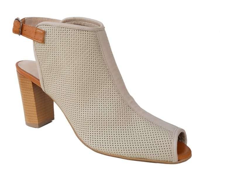 Δερμάτινα  παπούτσια SAV 7007 Μπεζ Γυναικεία Πέδιλα