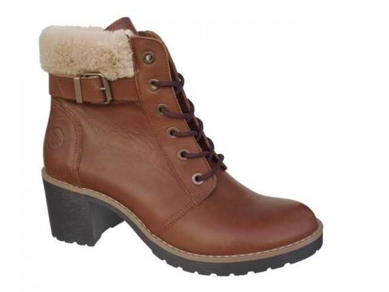 df160e642a10 -30% Δερμάτινα Παπούτσια FnDONNA 69871 Ταμπά Γυναικεία Μποτάκια