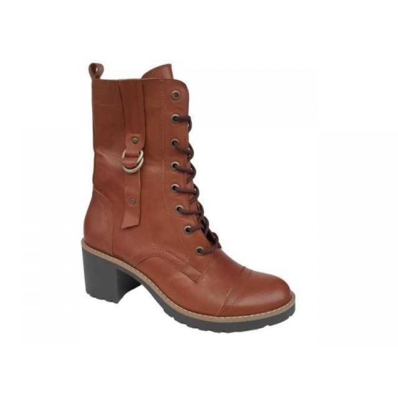 505c7cb7e19 -30% Δερμάτινα Παπούτσια FnDONNA 69873 Ταμπά Γυναικεία Μποτάκια