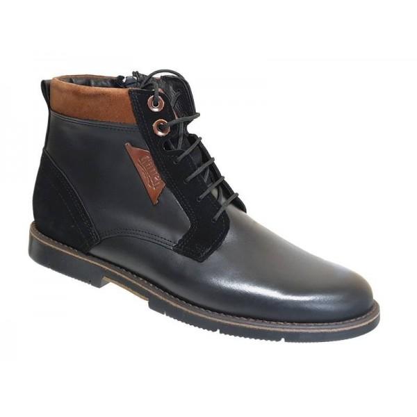 Ανδρικά Παπούτσια Casual 510 Μαύρα Casual Δερμάτινα Μποτάκια