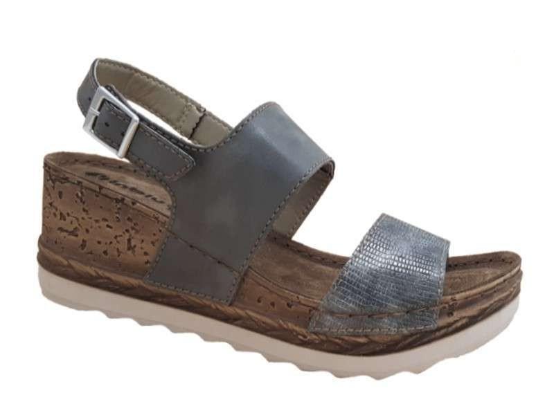 Παπούτσια INBLU 026707 gun metal Γυναικεία Πέδιλα