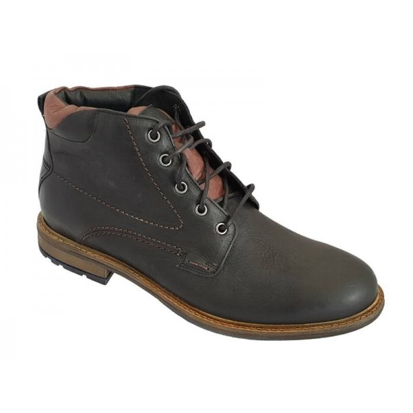 Ανδρικά Παπούτσια Kricket 1402 Μαύρα μποτάκια Κορδόνια