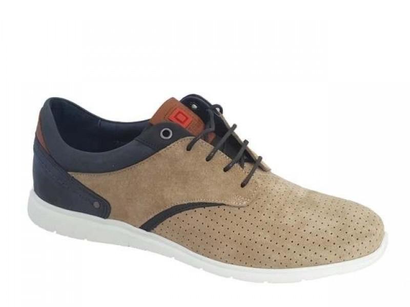 Ανδρικά Παπούτσια Kricket 321 Μπεζ Δερμάτινα Σκαρπίνια