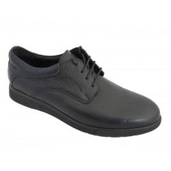 Ανδρικά Παπούτσια Kricket 4000 Μαύρα Δερμάτινα Σκαρπίνια.