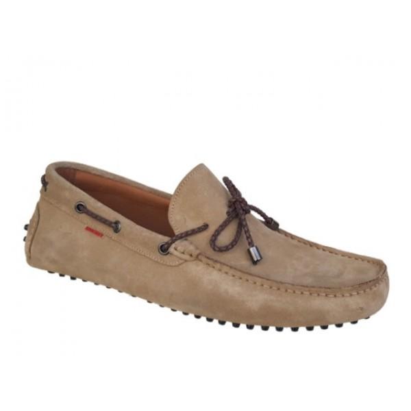 Ανδρικά Παπούτσια Kricket 541 Μπεζ Δερμάτινα Μοκασίνια