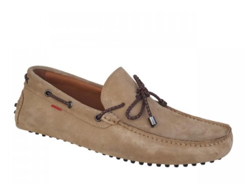 Ανδρικά Παπούτσια | Kricket 541 Μπεζ Δερμάτινα Μοκασίνια