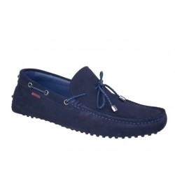 Ανδρικά Παπούτσια Kricket 541 Μπλε Δερμάτινα Μοκασίνια