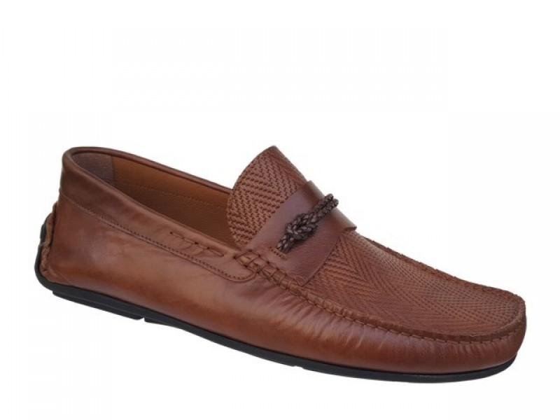 Ανατομικά Ανδρικά Παπούτσια Kricket 543 Ταμπά Δερμάτινα Μοκασίνια
