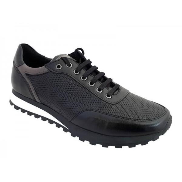 Ανδρικά Παπούτσια Kricket 7000 Μαύρα Casual Δερμάτινα Σκαρπίνια