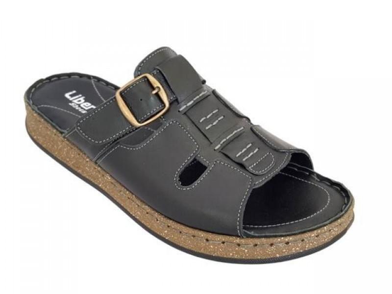 Δερμάτινα  παπούτσια Liberty 12 Μαύρα Ανδρικά Πέδιλα