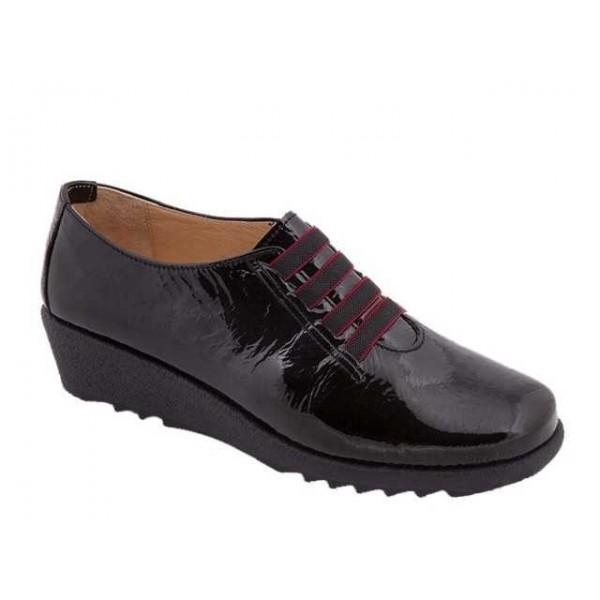 Γυναικεία Παπούτσια Relax anatomic 7302-03T Μαύρο Δέρμα λουστρίνι
