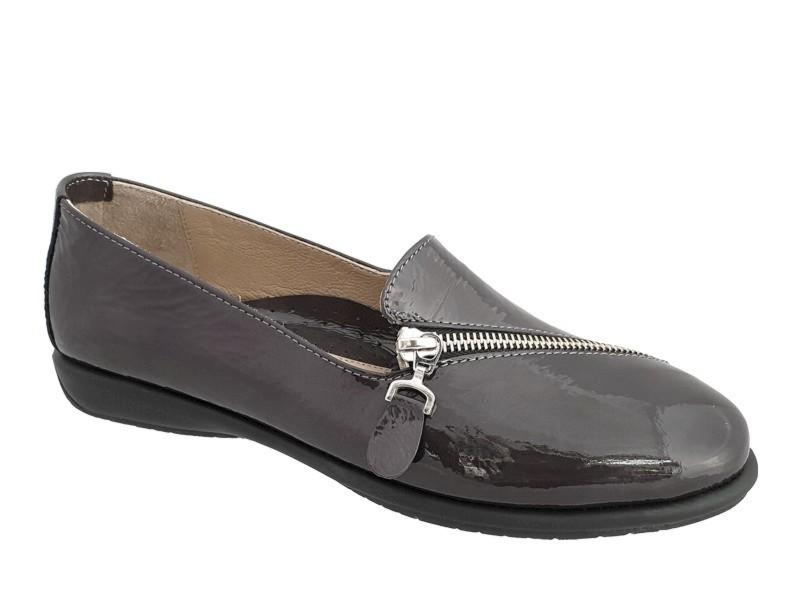 Δερμάτινα  Παπούτσια Relax anatomic 1230-03 Γκρι Γυναικεία Μοκασίνια