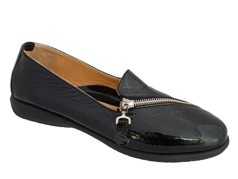 Γυναικεία Παπούτσια Relax anatomic 1230-03 Μαύρα Μοκασίνια
