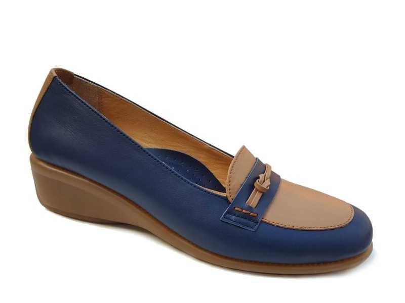Γυναικεία Παπούτσια Relax anatomic 4214-11 Μπλε - Ταμπά Μοκασίνι