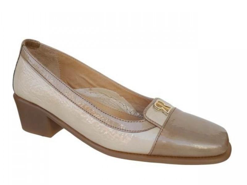 Δερμάτινα Παπούτσια Relax anatomic 5220-33 Πούρο - Εκρού Γόβες