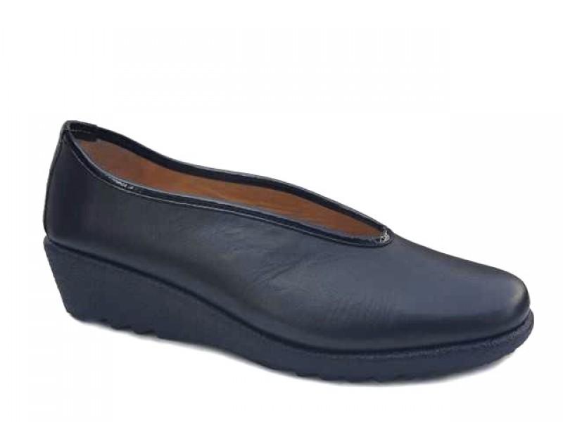 Δερμάτινα  Παπούτσια Relax anatomic 7105-13 Μαύρα Γυναικεία Μοκασίνια