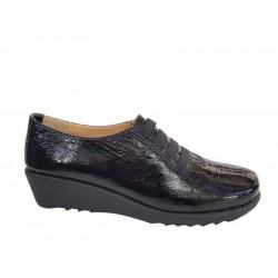Γυναικεία Παπούτσια Relax anatomic 7302-03 Μαύρο Δέρμα λουστρίνι