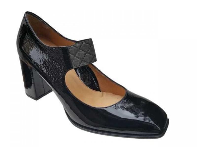 Δερμάτινα Παπούτσια Relax anatomic 76301-03 Γόβες Μαύρο λουστρίνι
