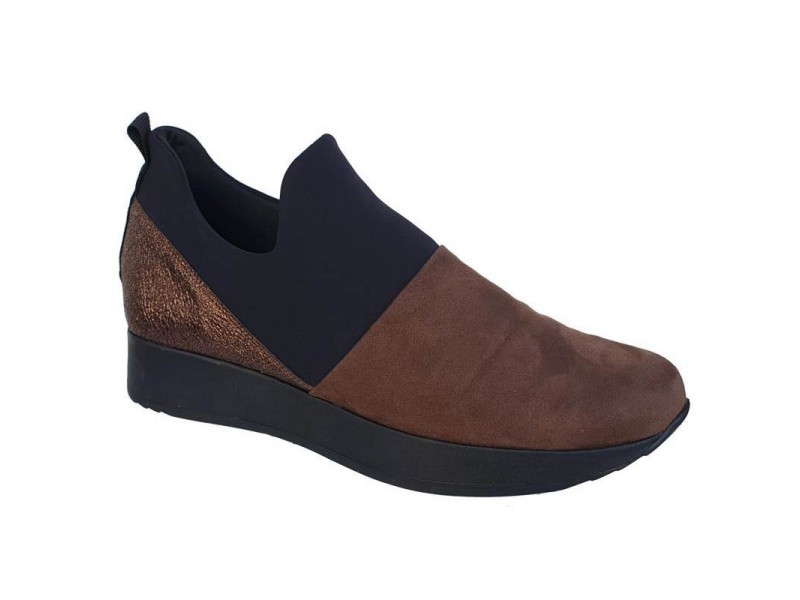 Παπούτσια Sabino 26318 Μαύρο - Πούρο Spor Γυναικεία Μοκασίνια