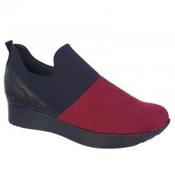 Παπούτσια Sabino 26318 Μαύρο - Κόκκινο Spor Γυναικεία Μοκασίνια