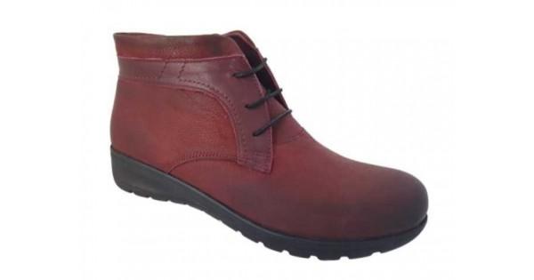 SAFE STEP 6036 Μπορντό Γυναικεία Μποτάκια - Δερμάτινα Παπούτσια 202345679eb