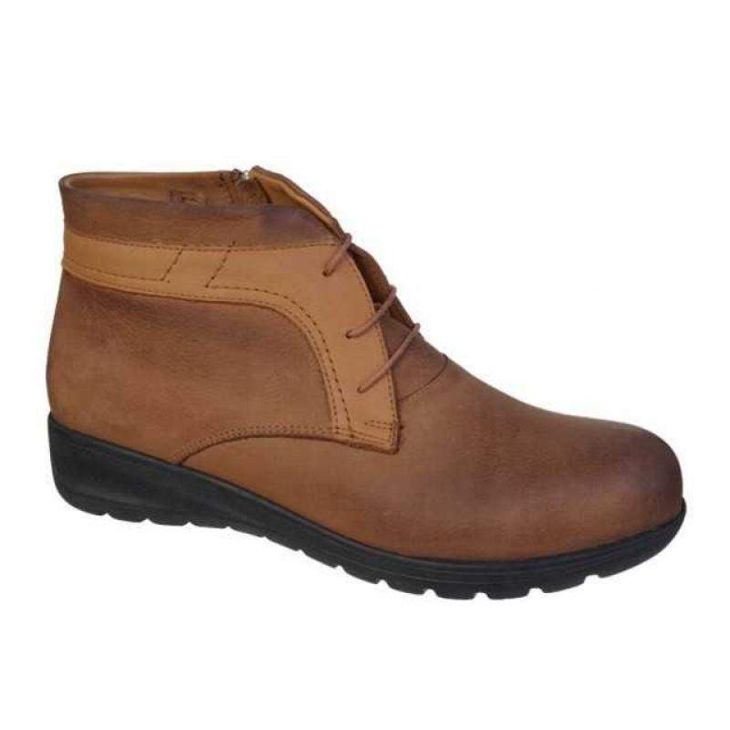-35% Δερμάτινα Παπούτσια SAFE STEP 6036 Ταμπά Γυναικεία Μποτάκια aa91443a905