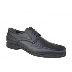 Ανδρικά Παπούτσια SOFTIES 4775 Μαύρα δέρματινα Σκαρπίνια - Δετά