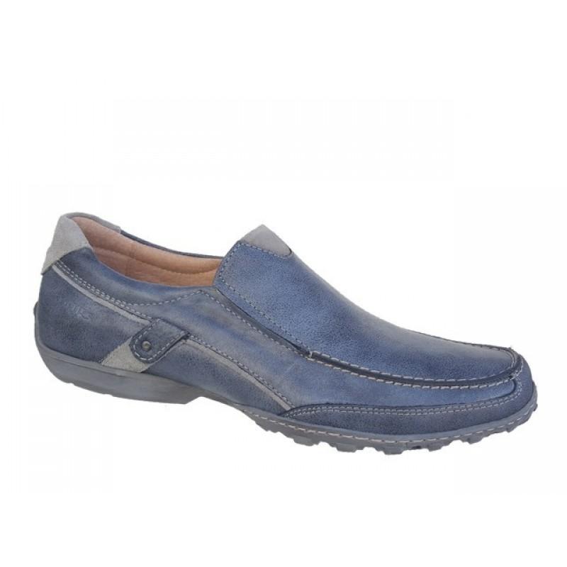 -24% Ανδρικά Παπούτσια SOFTIES 6862 Μπλε τζιν Μοκασίνια 7d04e9bea2f