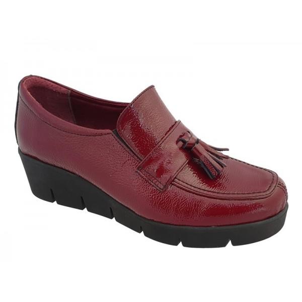Casual Γυναικεία Παπούτσια SOFTIES 7103 Μπορντό Σπορ Μοκασίνια