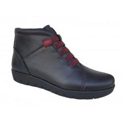 Γυναικεία Παπούτσια SOFTIES 7838 Μαύρα Σπορ Μποτάκια
