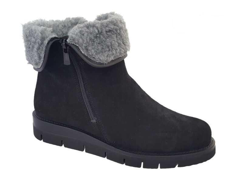 Γυναικεία Παπούτσια SOFTIES 7922 Μαύρα Καστόρινα μποτάκια