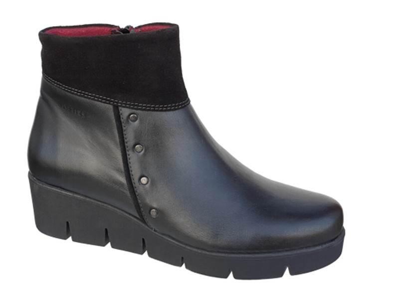 Δερμάτινα Παπούτσια SOFTIES 7971 Μαύρα Casual Γυναικεία Μποτάκια
