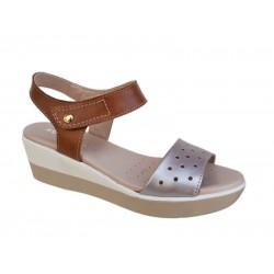 Γυναικεία Παπούτσια SOFTIES 9235  4016 Σαμπανί Δερμάτινα Πέδιλα