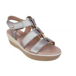 Γυναικεία Παπούτσια SOFTIES 9237 4016 Άμμος- χρυσό Δερμάτινα Πέδιλα