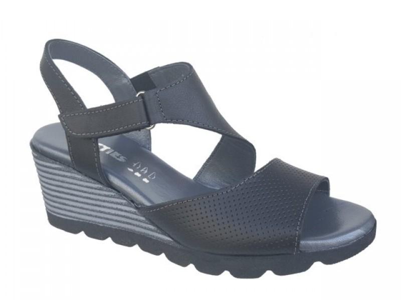 460d9805f50e -10% Γυναικεία Παπούτσια SOFTIES 9240 Μαύρα Δερμάτινα Πέδιλα - Πλατφόρμες