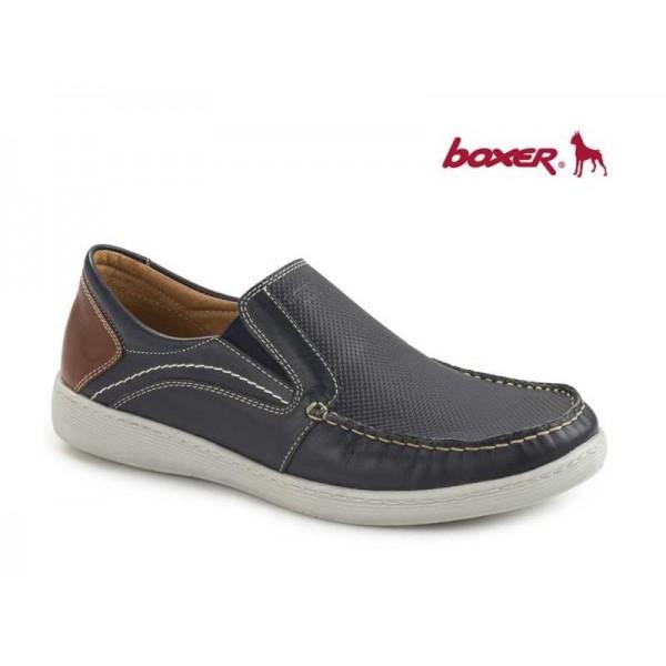 Ανδρικά Παπούτσια Boxer 21113 12-016 Μπλε Boat Μοκασίνια