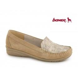 Γυναικεία Παπούτσια Boxer 56049 12-005 Κάμελ Δερμάτινα Μοκασίνια